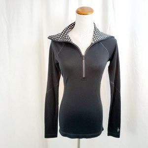 Smartswool XS 1/4 Zip Merino Wool Turtleneck Top